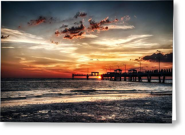 Sunset At Ft Desoto Greeting Card