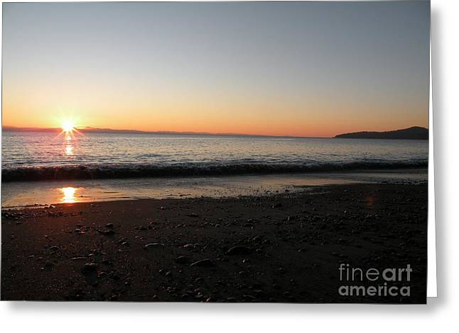 Sunset At Gordons Beach Greeting Card by Val Carosella