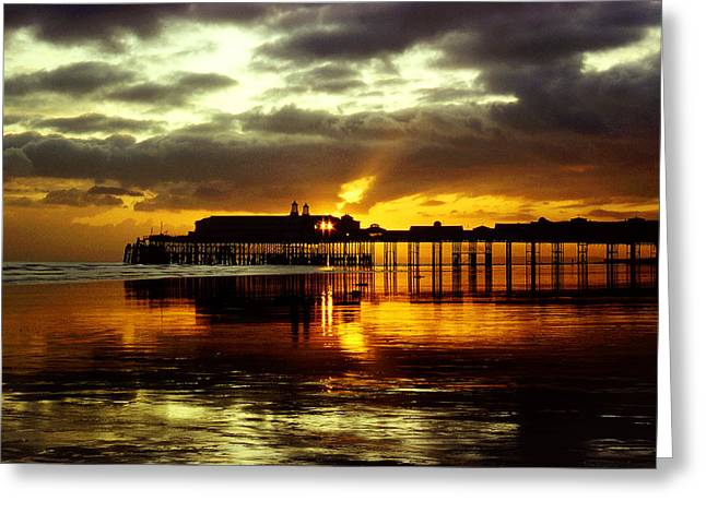 Sunset At Hastings Pier Uk Greeting Card