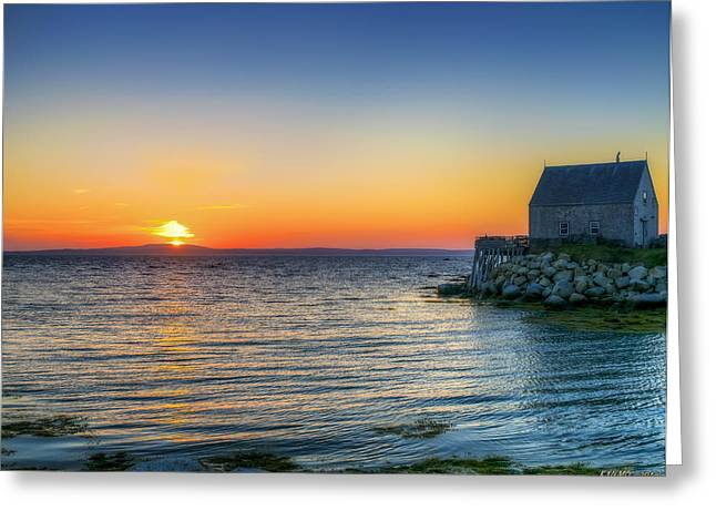 Sunset At Indian Harbour Greeting Card