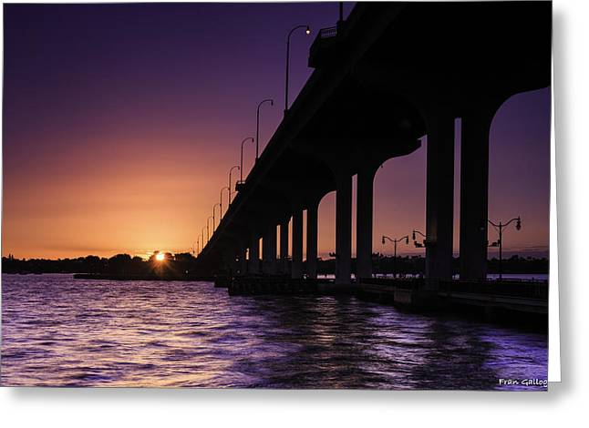 Sunset At Jensen Beach Greeting Card