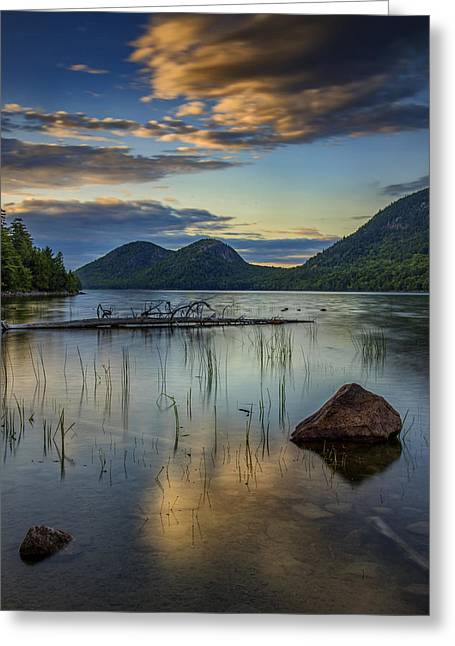 Sunset At Jordan Pond Greeting Card by Rick Berk