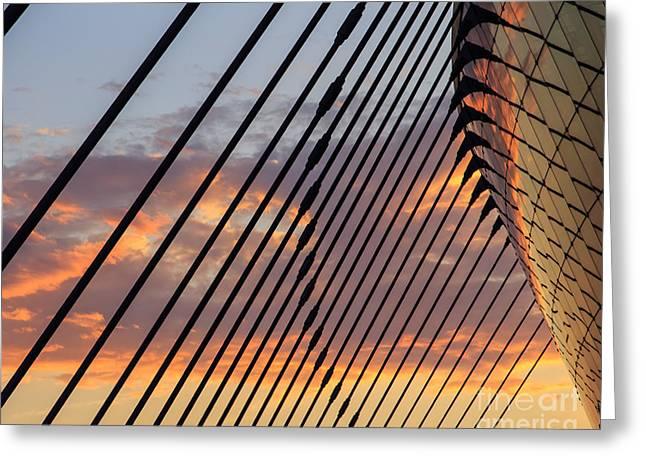 Sunset At Kauffman Art Center Greeting Card