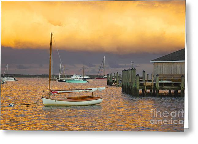 Sunset At Kennedy Compound Greeting Card by Amazing Jules
