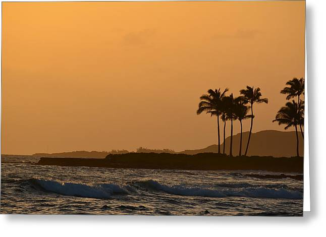 Sunset At Koloa Greeting Card by P S