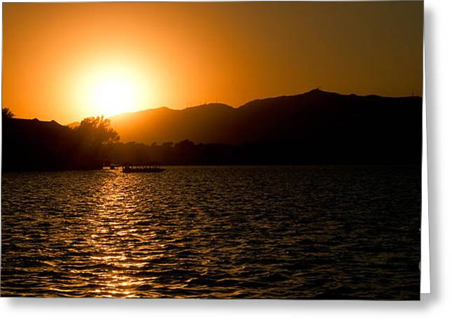 Sunset At Kunming Lake Greeting Card