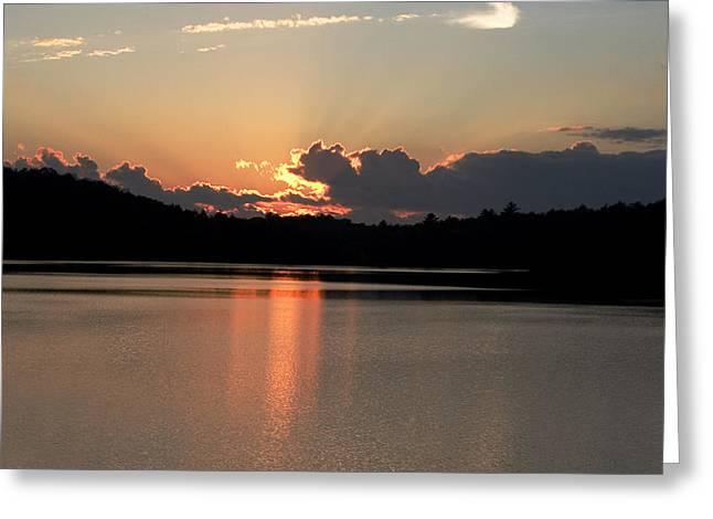 Sunset At Lake Of Bays  Greeting Card