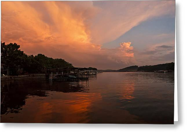Sunset At Lake Of The Ozarks Greeting Card