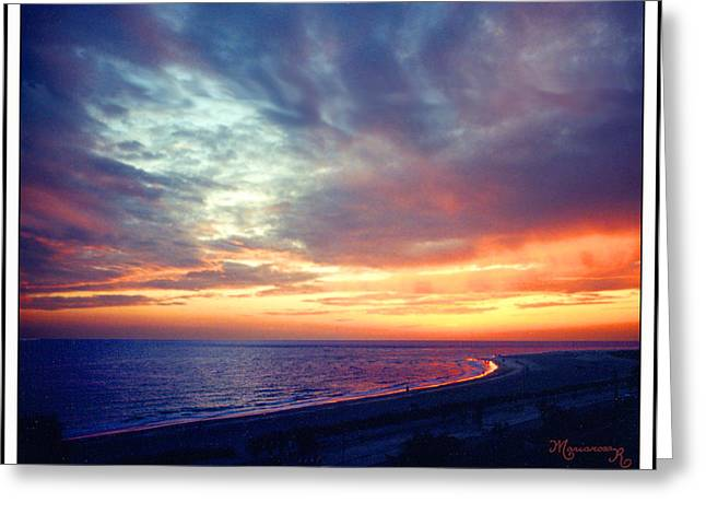 Sunset At Lido Key Greeting Card by Mariarosa Rockefeller