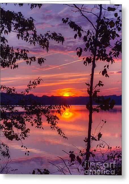 Sunset At Loch Raven Greeting Card by ELDavis Photography