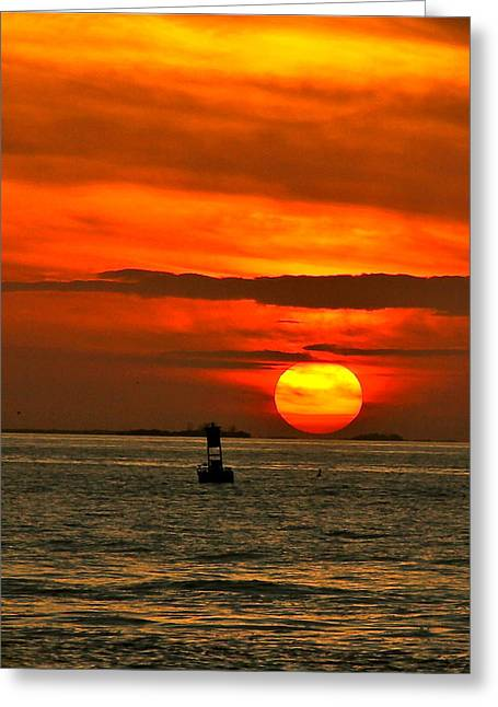 Sunset At Mallory Square Greeting Card