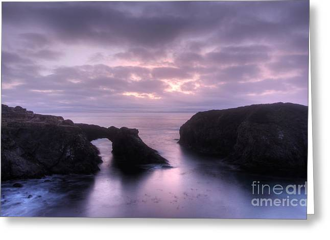 Sunset At Mendocino Greeting Card by Bob Christopher