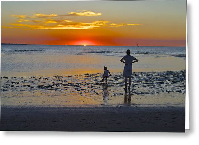 Sunset At Mindil Beach Greeting Card by Venetia Featherstone-Witty