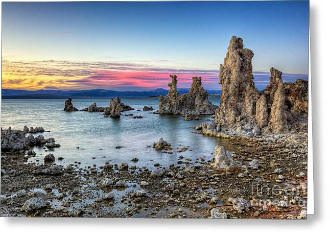 Sunset At Mono Lake Greeting Card