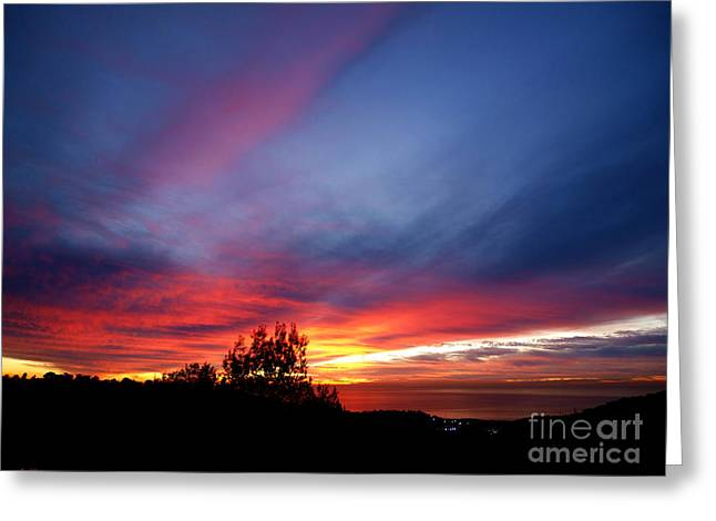 Sunset At Mount Carmel  Haifa 01 Greeting Card