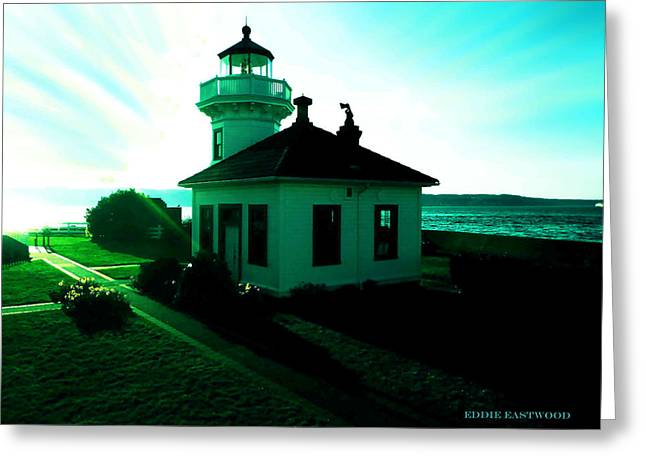 Sunset At Mukilteo Lighthouse Park  Greeting Card
