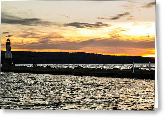 Sunset At Myers Greeting Card