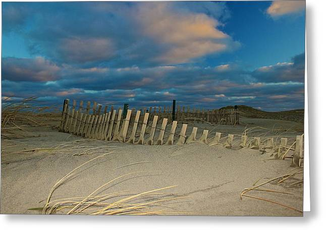 Greeting Card featuring the photograph Sunset At Nauset Beach Cape Cod by Amazing Jules