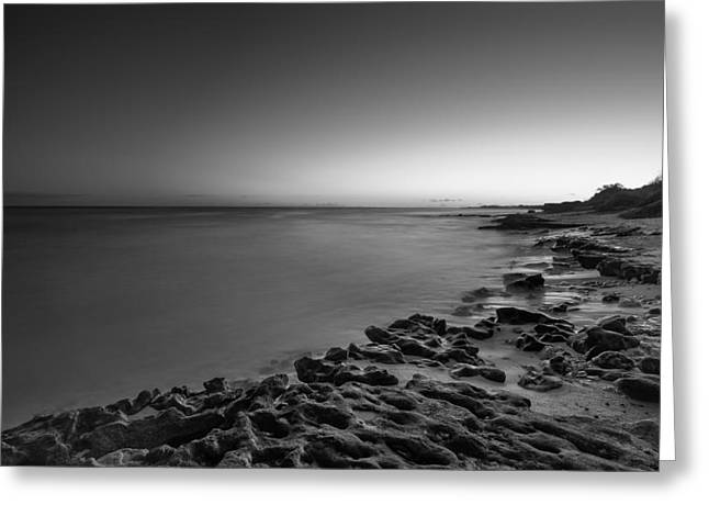 Sunset At Nimitz Beach Greeting Card by Tin Lung Chao