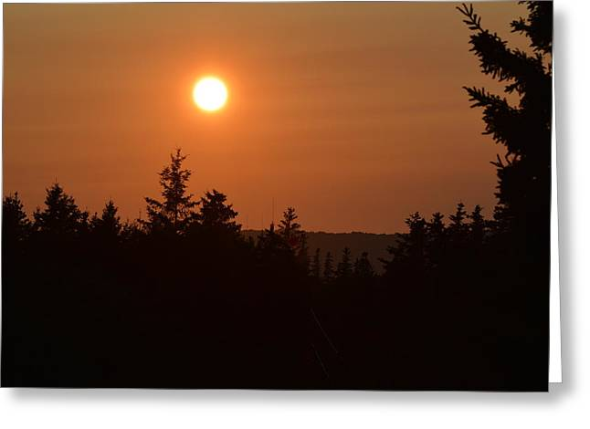 Sunset At Owl's Head Greeting Card