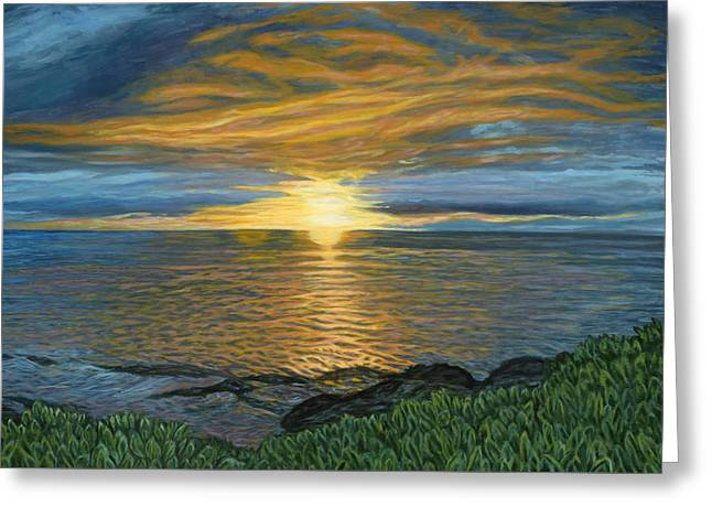 Sunset At Paradise Cove Greeting Card by Michael Allen Wolfe