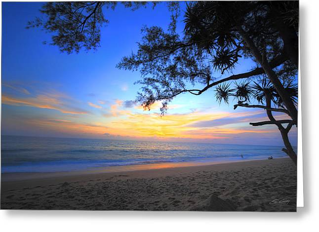 Sunset At Paradise Greeting Card
