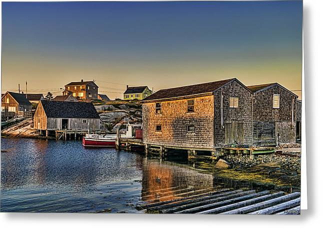 Sunset At Peggy's Cove IIi Greeting Card