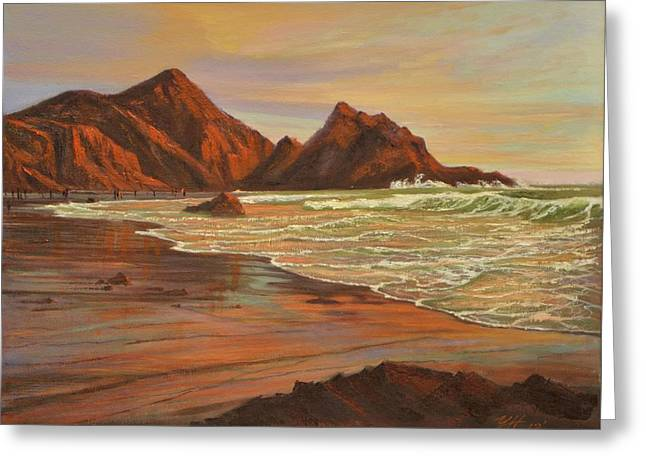 Sunset At Pfeiffer Beach Greeting Card by Yinguo Huang