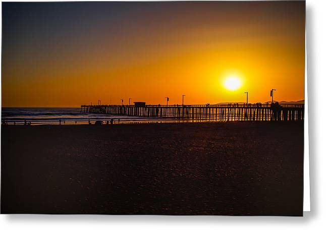 Sunset At Pismo Greeting Card