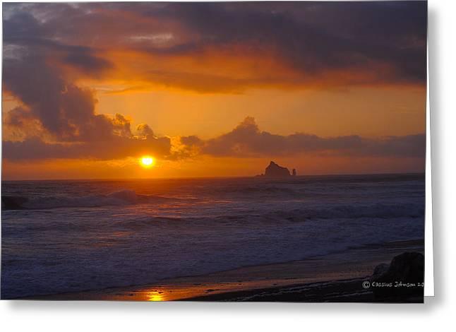 Sunset At Rialto Greeting Card