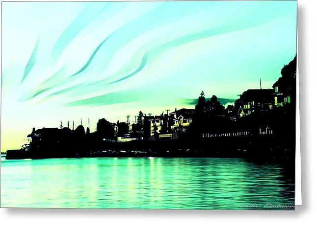 Sunset At Richmond Beach Washington Greeting Card