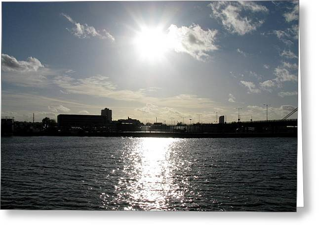 Greeting Card featuring the photograph Sunset At Royal Albert Dock by Helene U Taylor