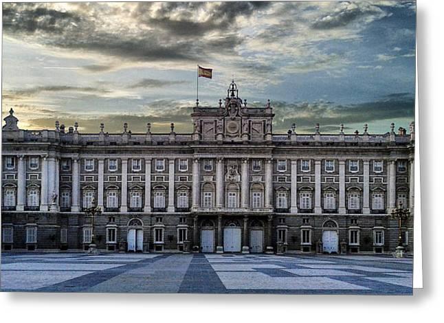 Sunset At Royal Palace Greeting Card
