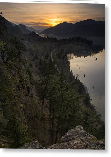 Sunset At Ruthton Point Greeting Card