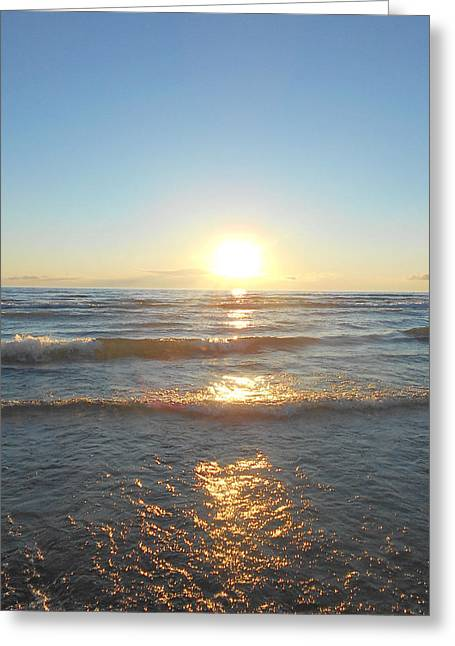 Sunset At Sauble Beach  Greeting Card