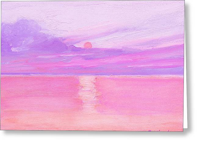 Sunset At Sea Greeting Card by J Reifsnyder