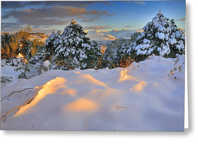 Sunset At Sierra Nevada Greeting Card by Guido Montanes Castillo