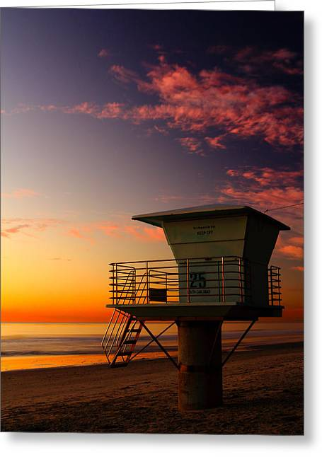 Sunset At South Carlsbad State Park Greeting Card by Eric Foltz