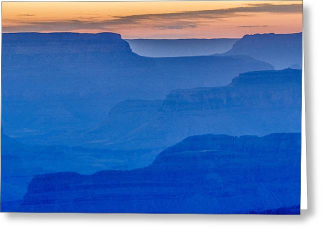 Sunset At South Rim Greeting Card