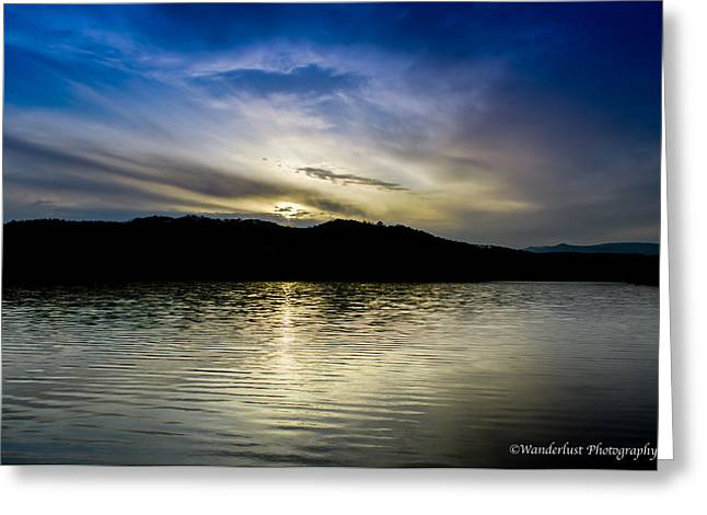 Sunset At South Tellico Lake Greeting Card by Paul Herrmann