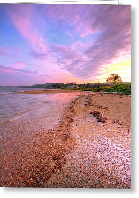 sunset at Stanley Beach. Greeting Card