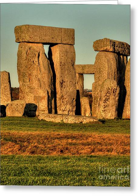 Sunset At Stonehenge 2 Greeting Card
