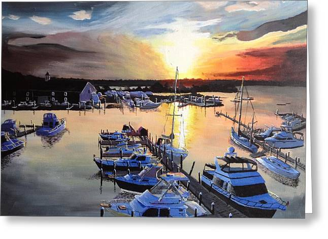 Sunset At The Anglers Club Greeting Card