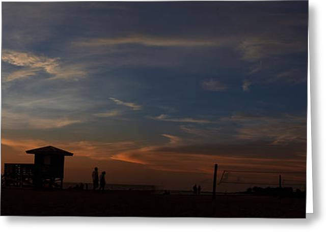 Sunset At The Beach Greeting Card by Regina  Williams