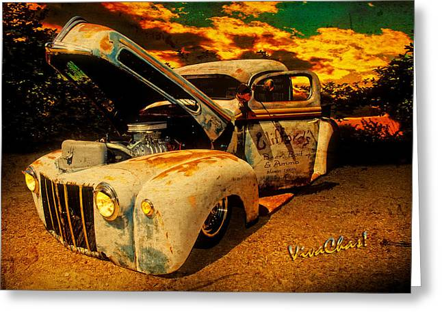 Sunset At The Blanco River Greeting Card by Chas Sinklier