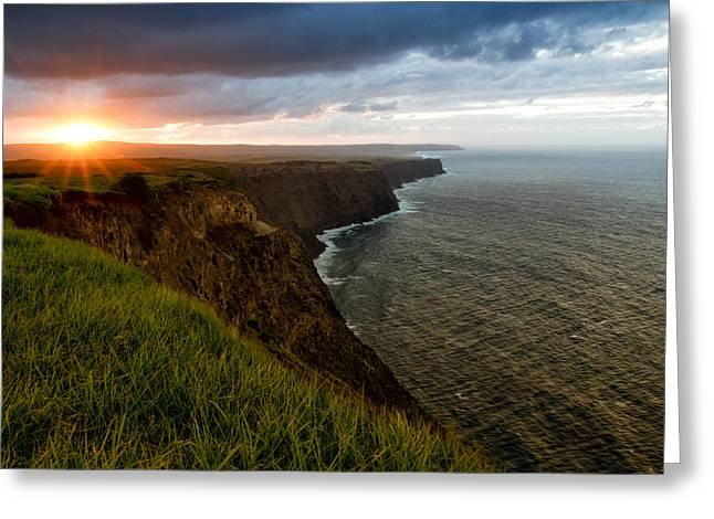 Sunset At The Cliffs Greeting Card