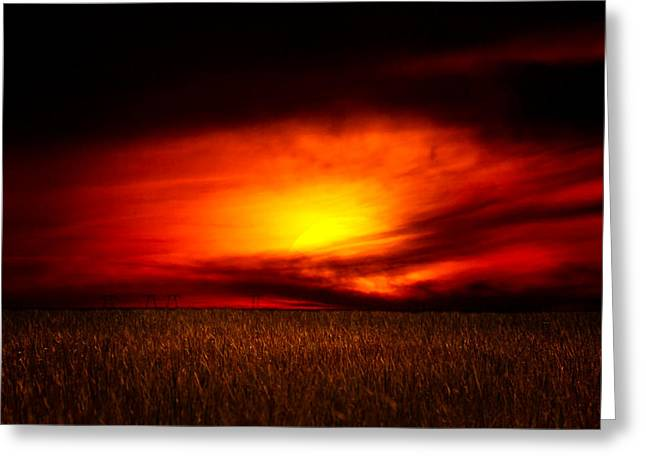 Sunset At The Edge Of The World Greeting Card by Mark Andrew Thomas