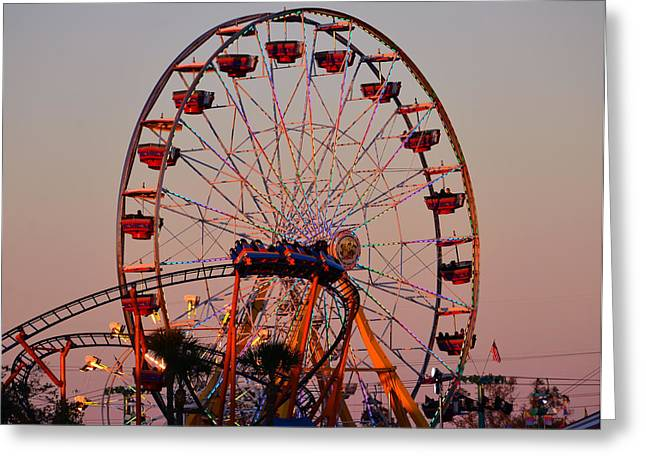 Sunset At The Fair Greeting Card by David Lee Thompson