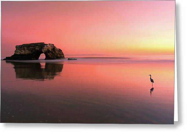 Sunset At The Natural Bridge-2 Greeting Card