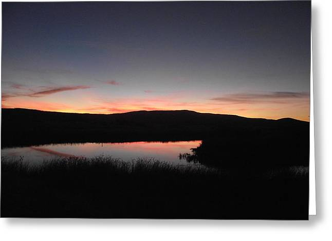 Sunset At The Pit River Greeting Card